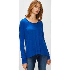 Marc O'Polo - Bluzka. Niebieskie bluzki z odkrytymi ramionami Marc O'Polo, l, z bawełny, casualowe, z okrągłym kołnierzem. Za 169,90 zł.