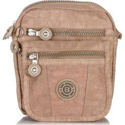 Bezowa MAŁA TORBA SASZETKA NA RAMIĘ Z MIKROFIBRY BAG STREET. Brązowe torby na ramię męskie marki Kazar, ze skóry, przez ramię, małe. Za 54,90 zł.