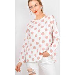 Bluzki damskie: Bluzka koszulowa w grochy