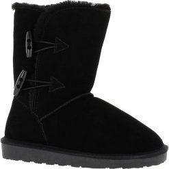 """Buty zimowe damskie: Skórzane kozaki """"Hubbard"""" w kolorze czarnym"""