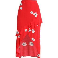 Długie spódnice: Bardot FRIEDA RUFFLE SKIRT Długa spódnica red