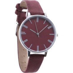 Bordowy Zegarek Plain. Czerwone zegarki damskie Born2be. Za 24,99 zł.