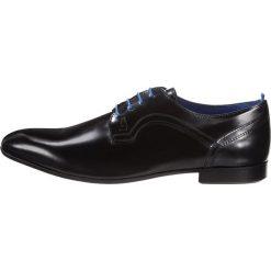 Azzaro PIORO Eleganckie buty noir. Czarne buty wizytowe męskie Azzaro, z materiału, na sznurówki. Za 579,00 zł.