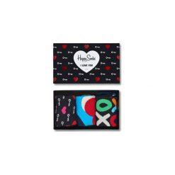 Giftbox (3-pak) skarpetki Happy Socks XHEA08-9000. Czarne skarpetki męskie Happy Socks. Za 99,90 zł.