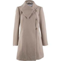 Płaszcz bonprix brunatny. Brązowe płaszcze damskie bonprix. Za 219,99 zł.