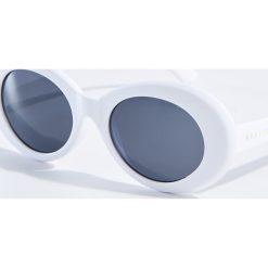 Okulary przeciwsłoneczne damskie: Okulary przeciwsłoneczne w stylu vintage – Biały