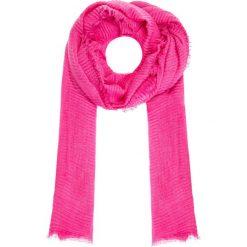Apaszki damskie: Różowy szal w prążki QUIOSQUE