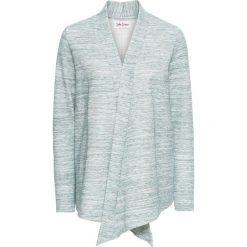 Bluzy damskie: Bluza rozpinana z długim rękawem bonprix eukaliptusowy melanż