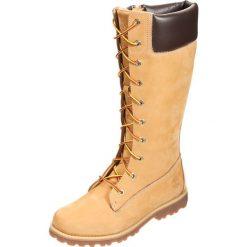 Timberland CLASSIC TALL LACE UP WITH SIDE ZIP Kozaki sznurowane wheat. Różowe buty zimowe damskie marki Timberland, z materiału, na wysokim obcasie. W wyprzedaży za 257,40 zł.