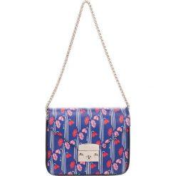 Torebki klasyczne damskie: Skórzana torebka w kolorze niebieskim – (S)20 x (W)16 x (G)8 cm