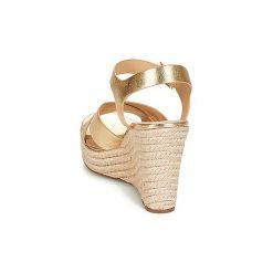 Sandały MICHAEL Michael Kors  KADY. Czarne sandały damskie marki MICHAEL Michael Kors, z gumy, przed kolano, na wysokim obcasie. Za 659,00 zł.