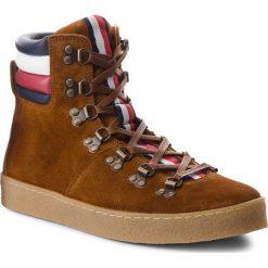 Buty zimowe męskie: Kozaki TOMMY HILFIGER - Crepe Outsole Hiking Hybrid Boot FM0FM01918 Cognac 606
