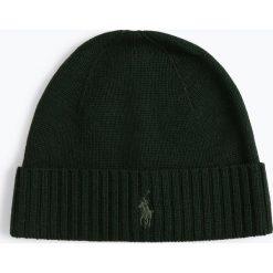 Polo Ralph Lauren - Czapka męska, zielony. Zielone czapki męskie Polo Ralph Lauren, z haftami, z dzianiny, klasyczne. Za 229,95 zł.