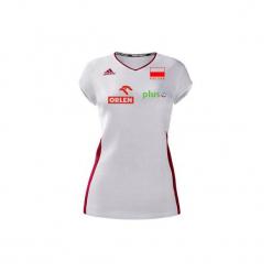 Koszulka reprezentacji Polski Damska Biała. Białe t-shirty damskie Adidas, xs. W wyprzedaży za 103,00 zł.