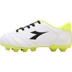 Buty sportowe chłopięce: Diadora 6PLAY MD       Korki Lanki white/black/yellow fluo