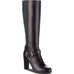 Kozaki GEOX - D Annya H. F D84AEF 00043 C9999 Black. Czarne buty zimowe damskie Geox, z materiału, na obcasie. W wyprzedaży za 599,00 zł.
