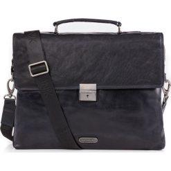 Teczka męska. Czarne torby na laptopa Ochnik, w paski, ze skóry, duże. Za 559,90 zł.