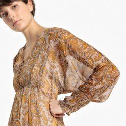 Długie sukienki: Długa, wzorzysta sukienka boho z kaszmiru