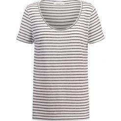 T-shirty damskie: Samsøe & Samsøe NOBEL TEE STRIPE Tshirt z nadrukiem black