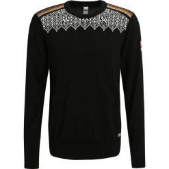 Swetry klasyczne męskie: Dale of Norway LILLEHAMMER Sweter black/orange peel/off white/spring green