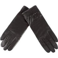 Rękawiczki damskie: Rękawiczki Damskie CALVIN KLEIN BLACK LABEL – Leather Gloves K60K603517  001