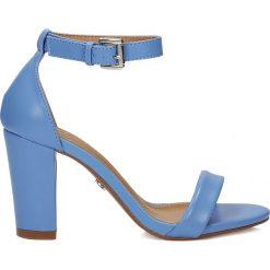 Rzymianki damskie: Niebieskie sandały damskie