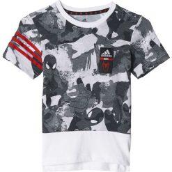 T-shirty chłopięce: Adidas Koszulka dziecięca Boys Spiderman Cotton Tee biała r. 128 cm  (BK1066)