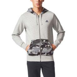 Bluza z kapturem zapinana na zamek. Szare kardigany męskie adidas Performance, m, z bawełny, sportowe, z kapturem. Za 268,76 zł.