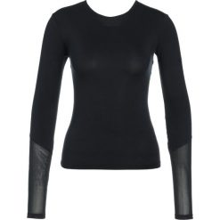 Nike Performance DRY WRAP Koszulka sportowa black/black. Czarne topy sportowe damskie Nike Performance, xl, z elastanu. W wyprzedaży za 161,10 zł.