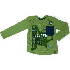Koszulka w kolorze zielonym. Zielone t-shirty chłopięce z długim rękawem Street Monkey, z bawełny. W wyprzedaży za 39,95 zł.