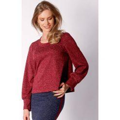 Bluzy damskie: Bluza w kolorze kasztanowym