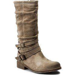 Kozaki TAMARIS - 1-25455-29 Taupe 341. Szare buty zimowe damskie marki Tamaris, z materiału, na sznurówki. W wyprzedaży za 219,00 zł.