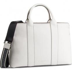 Torebka CALVIN KLEIN - Race Tote K60K604882 102. Białe torebki klasyczne damskie Calvin Klein, ze skóry ekologicznej. Za 699,00 zł.