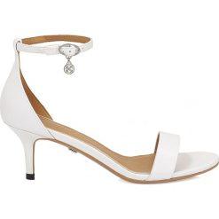 Rzymianki damskie: Białe sandały damskie