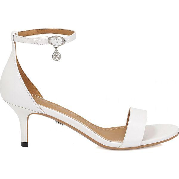 24201eca6aae7 Białe sandały damskie - Białe sandały damskie Kazar, ze skóry, na ...