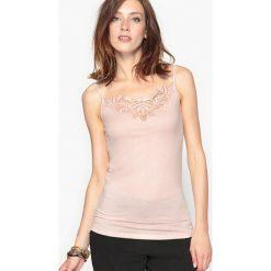 Bluzki asymetryczne: Koszulka na ramiączkach z gipiury, przyjemna i wygodna
