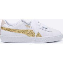 Puma - Buty Basket Heart Glitter. Szare buty sportowe damskie Puma, z gumy. W wyprzedaży za 239,90 zł.