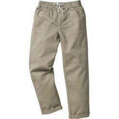 Odzież dziecięca: Spodnie chino z elastycznym paskiem bonprix piaskowy