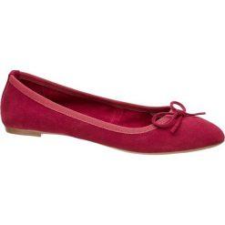 Baleriny damskie 5th Avenue czerwone. Czerwone baleriny damskie z kokardą marki 5th Avenue, z materiału, na obcasie. Za 139,90 zł.