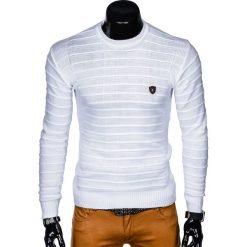 Swetry męskie: SWETER MĘSKI E139 - BIAŁY