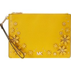 MICHAEL Michael Kors POUCHE SAND CLUTCHES ZIP Kopertówka sunflower. Żółte puzderka MICHAEL Michael Kors. Za 529,00 zł.
