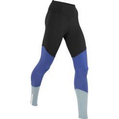 Legginsy do biegania, długie, LEVEL 3 bonprix czarno-szafirowo-srebrnoszary. Czarne legginsy we wzory bonprix. Za 37,99 zł.
