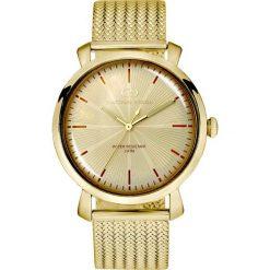 Zegarek Giacomo Design Męski elegancki GD09004 złoty. Żółte zegarki męskie Giacomo Design, złote. Za 410,99 zł.