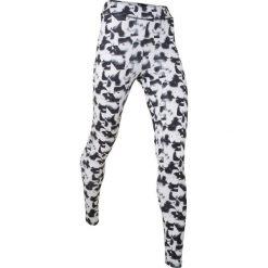 Legginsy sportowe wzorzyste, długie bonprix czarno-biały z nadrukiem. Białe legginsy we wzory bonprix. Za 37,99 zł.