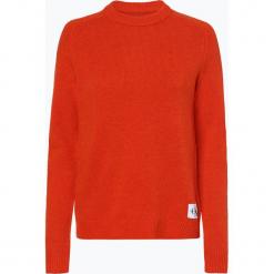 Calvin Klein Jeans - Sweter damski, pomarańczowy. Brązowe swetry klasyczne damskie Calvin Klein Jeans, l, z jeansu. Za 529,95 zł.