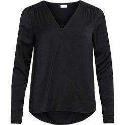Bluzki asymetryczne: Gładka bluzka z okrągłym wycięciem szyi i długim rękawem
