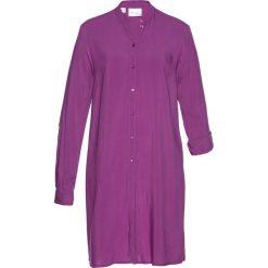 Długa  bluzka bonprix piwonia. Fioletowe bluzki asymetryczne bonprix, z długim rękawem. Za 89,99 zł.