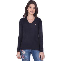 """Swetry klasyczne damskie: Sweter """"Gullane"""" w kolorze granatowym"""