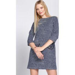 Granatowa Sukienka Shame. Niebieskie sukienki dzianinowe Born2be, l, oversize. Za 39,99 zł.