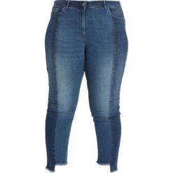 Persona by Marina Rinaldi ICONA TWO TONE  Jeans Skinny Fit mid blue denim. Niebieskie boyfriendy damskie Persona by Marina Rinaldi, z bawełny. Za 589,00 zł.